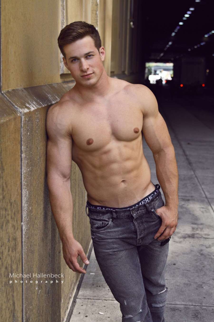 """Recently named Sexiest Man Alive by People Magazine/Tinder for being the """"most swiped right man,"""" it doesn't take long to see why the public loves him. This New Hampshire native is one hot hunk of muscle! He even appeared on NBC's """"Today"""" show for winning the Hottest Man. Sandell has also been a long time favorite on our PnV twitter and instagram followers. The 22 year old calls Rahway, NJ home these days. He is 5'10"""", 215 pounds with blue eyes and brown hair. Sandell is represented by NY's Silver Modeling/Chelsea Talent and with Evolution Talent in London. He's also shot for Iovate's Six Star supplement line in Toronto."""