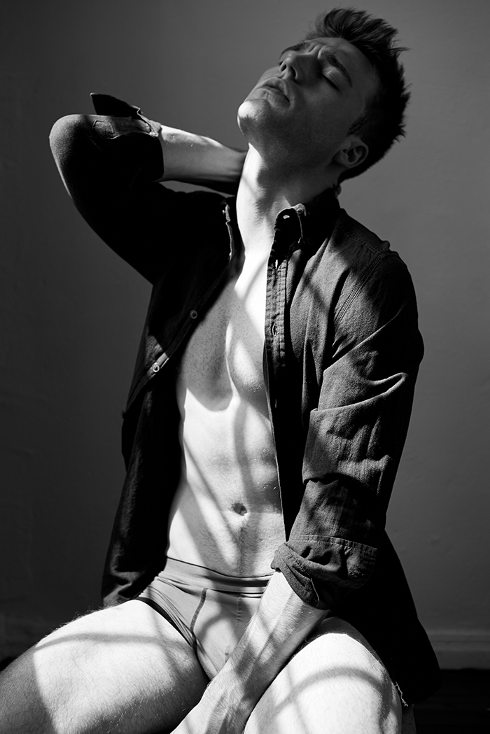 Here comes the work entitled 'Shadows' by photographer Cedric Terrell features LA based model Andy Lehmann.