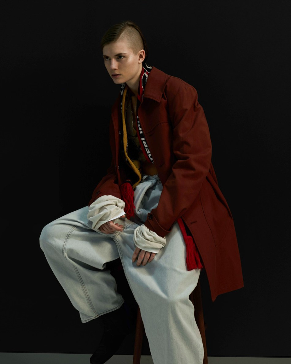 'Der Spinner' for ODDA 10 inspired by the tribes of Hooligans and Skinheads by Derek Ridgers shot by Ralph Mecke & Fashion Editor Ingo Narhwold.