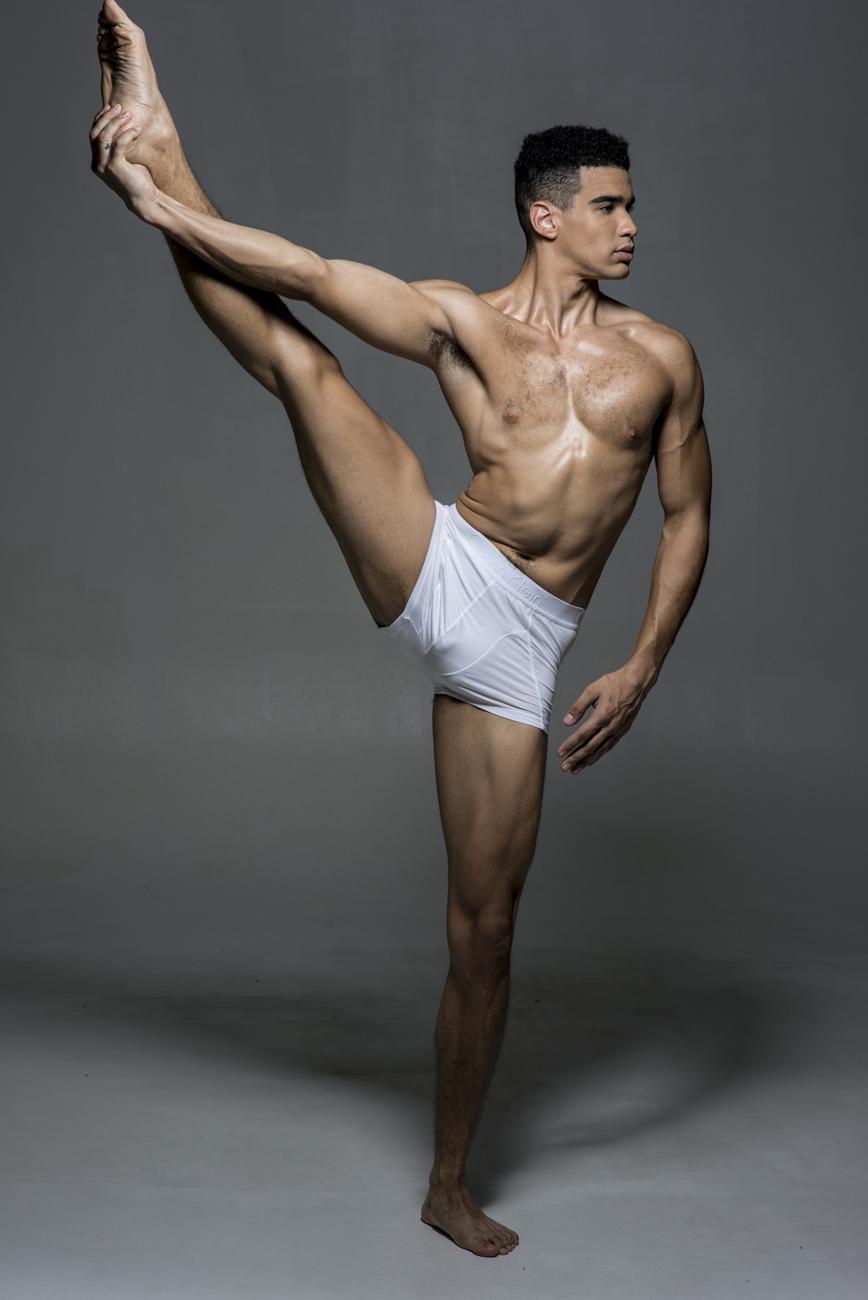 Underwear Series shot by Juliana Soo featuring model Xavier McKinnon
