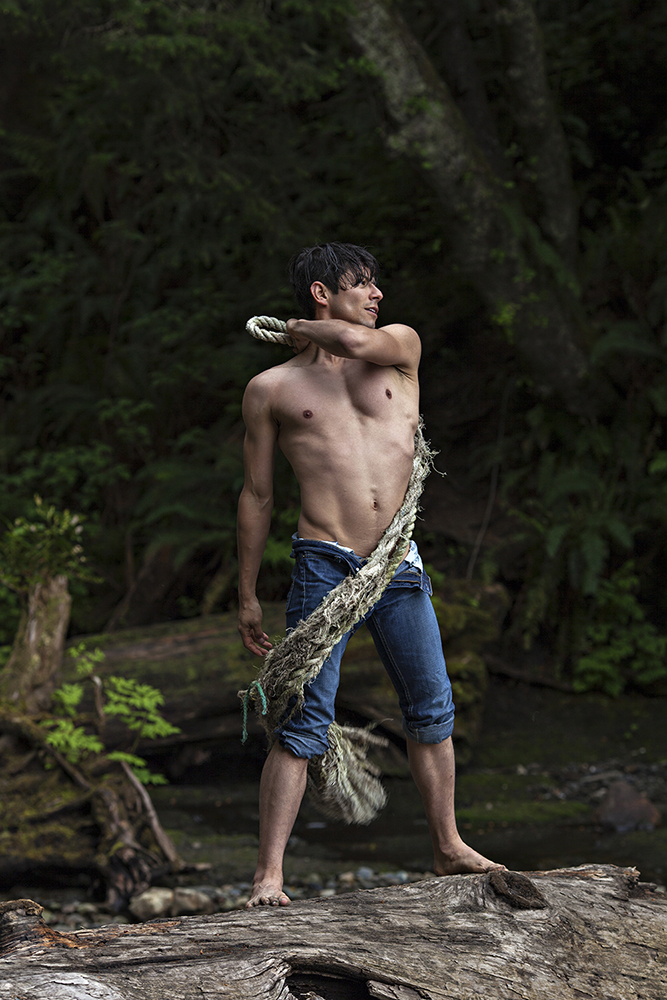 """I couldn't go without posting this work. I'd like to introduce you this editorial titled """"The Edging"""" a work shot by Matthew D. Mulisch, the editorial features queer actor/director, Derek Villanueva, shot by me near Cape Flattery, WA back in April 2016."""