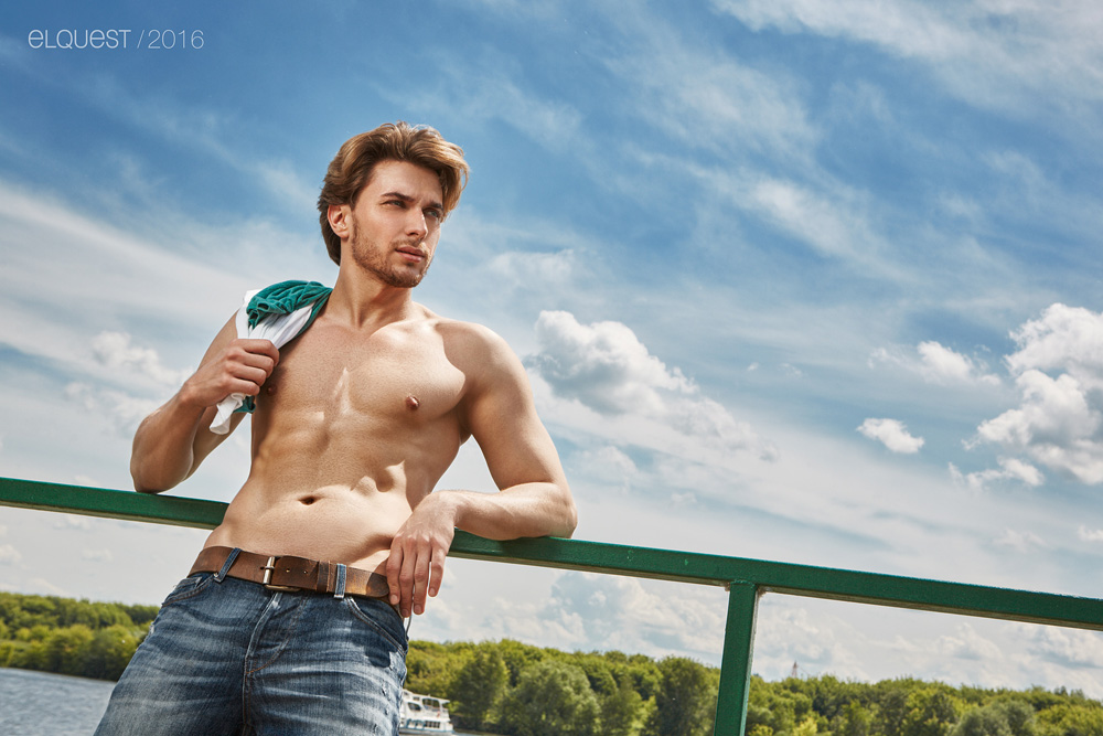This is a beautiful morning with a beautiful male model, he's Artem Gerasimov shots by Ruslan Elquest.