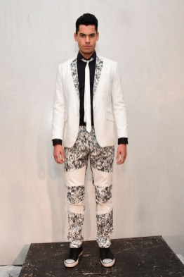 Mandatory Credit: Photo by Aurora Rose/REX/Shutterstock (5754854bm) Model on the Catwalk Artistix with Andy Hilfiger Presentation, Spring Summer 2017, New York Fashion Week: Men's, USA - 11 Jul 2016