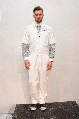 Mandatory Credit: Photo by Aurora Rose/REX/Shutterstock (5754854br) Model on the Catwalk Artistix with Andy Hilfiger Presentation, Spring Summer 2017, New York Fashion Week: Men's, USA - 11 Jul 2016