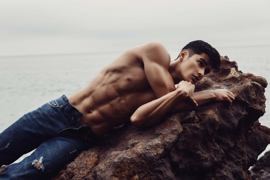 Work by Fashion and Lifestyle Photographer Alex Jackson featuring Jeff Langan from DT Models wearing garments from Emporio Armani, Zara, Diesel and swim by Charlie by MZ. Grooming by Julie Brooks
