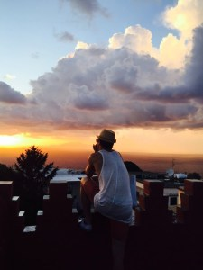 """A sunset with Brad in Capri, Italy"""