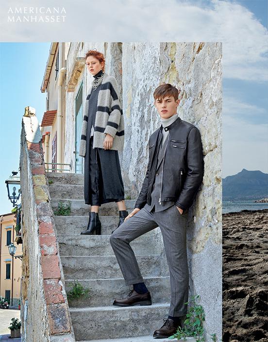 Model Kit Butler leading Americana Manhasset Fall/Winter 2016 Catalog.