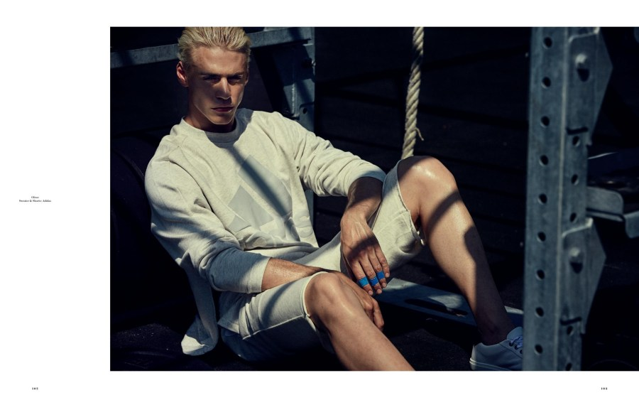 Get up and move that body, start your morning routine with this inspired workout editorial shooting with models Louren Groenewald, Oliver Stummvoll, Ryan Tift, Taylor Ashmore and Thorben Gärtner for Kult Magazine Issue 13 shot by Oscar Falk, styled by Lars-Frederik Svedberg and grooming by Pari Damani.