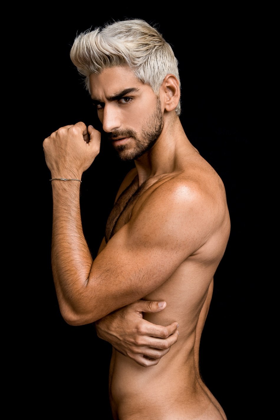 Presenting raw shots by Fritz Yap featuring platinum hair new face Andres Leonardi from BD Talent Management. Creative Director by Kai Jankovic.