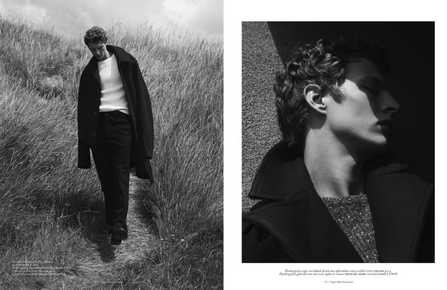 """Coats to Coast"" by Ward Ivan Rafik w/ styling from Dimphy den Otter. Hair by Christian Eberhard and makeup by Marie Duhart."