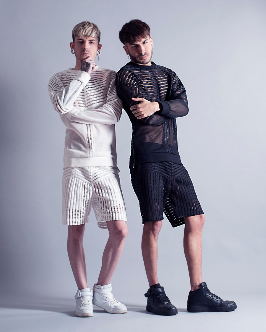 MASS Branded recently launched their new capsule collection of high-end streetwear for men. Designer Mass Luciano continues to play with structured mesh styling, for a look that's both seductive yet subtle. Taking it's cue from the premier collection, MASS Branded offers updated lighter versions of the brands popular styles, in their signature black and white colors.
