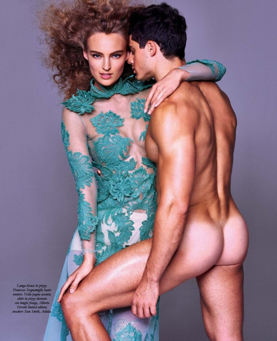 Photography by Philippe Vogelenzang and stylist mastermind Miguel Arnau get together tow beautiful talents Ymra Stiekema and Pietro Boselli for Ladies & Gents October Issue 2016.