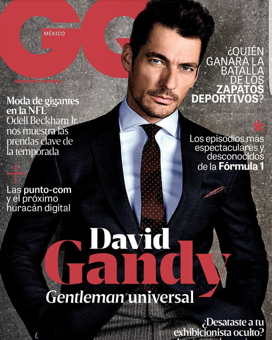 """English Gentleman"" Top model David Gandy fronts new cover for GQ Mexico October 2016 Issue the story photography by Richard Ramos and styled by Lorna McGee. Art Direction by Fernando Carrillo and Alonso Parra and grooming by Larry King."