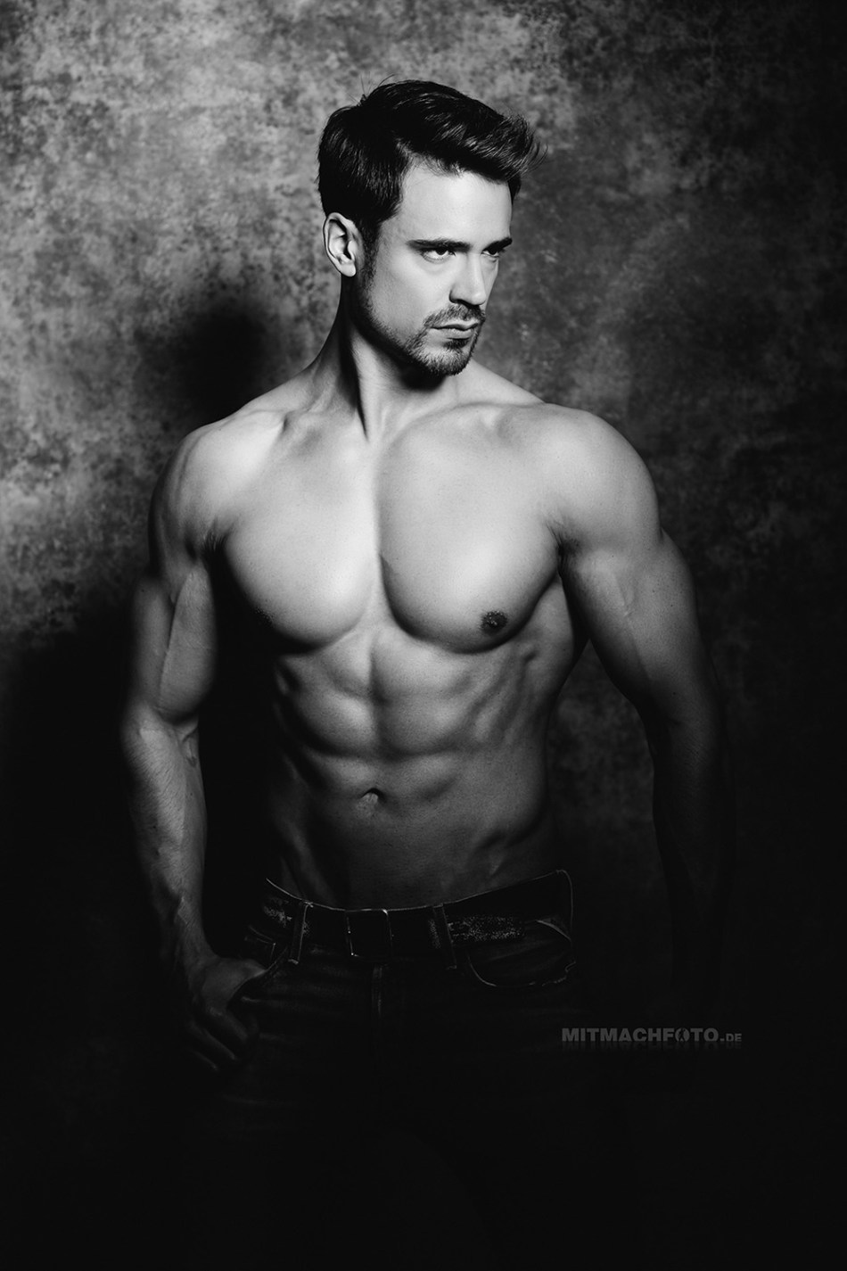 From Germany to the world. We introduce you German beauty Marcel Völker posing and photographed in black and white by talented Heike Katthagen.