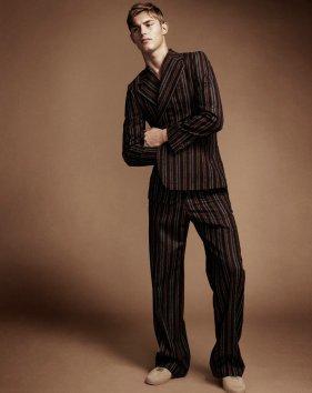 Dries Van Noten wool suit.