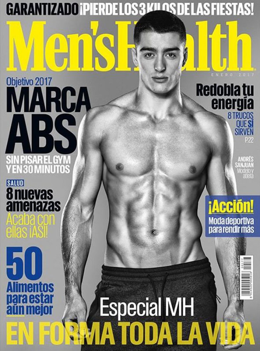 Spanish sensation Andrés Sanjuan, choosing as MOTW by models.com and now's fronting the cover for Men's Health Spain issue January 2017. With a stunning photography by Manolo Vazquez, following by a promotional video meeting how is Andrés ( I fell even more in love listening to him. Beautiful voice. His body is just awesome and he has a gorgeous skin.) Revealing on this past Christmas by MH editor Jordi Martínez as a Christmas gift for all Andrés worldwide fans. The video is translated in English by me.
