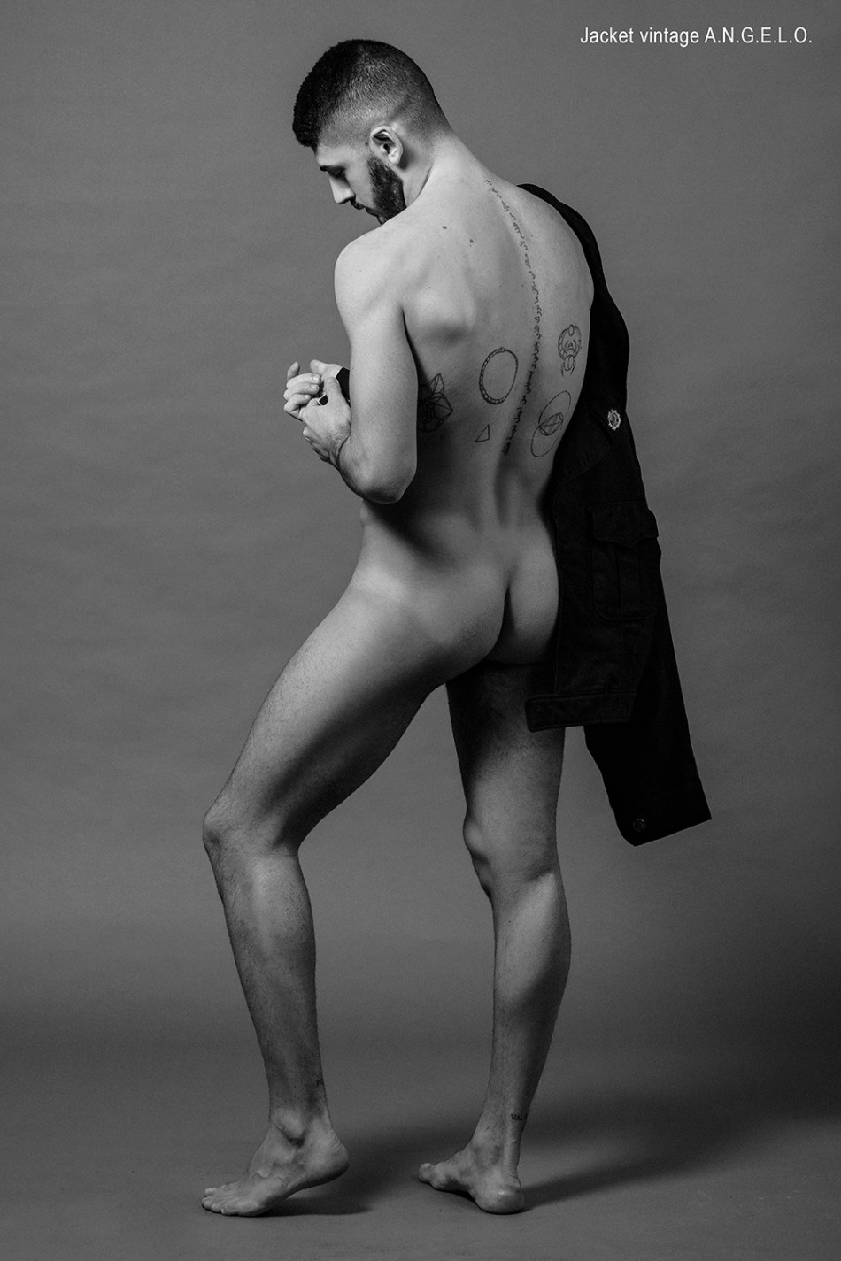 Here's hunk model Michele Miccoli a finest quality Italian pure hunk, posing for the lens of Alisson Marks and styled by fashionista Stefano Guerrini.
