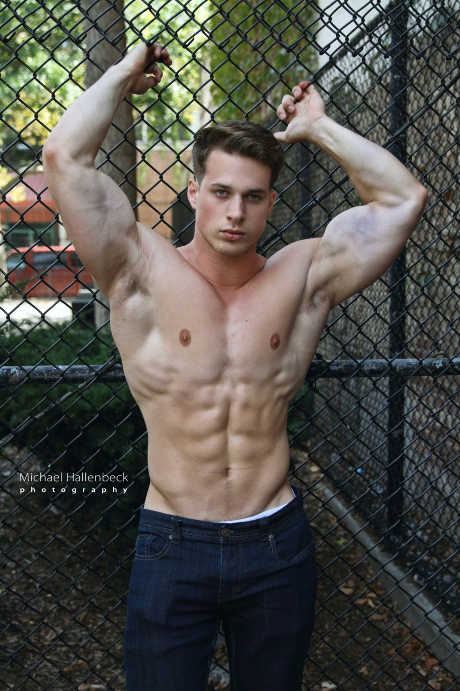 Everybody swoons over Nick Sandell. The muscle-bound hunk once again debuts a hot new shoot on Fashionably Male/PnV.