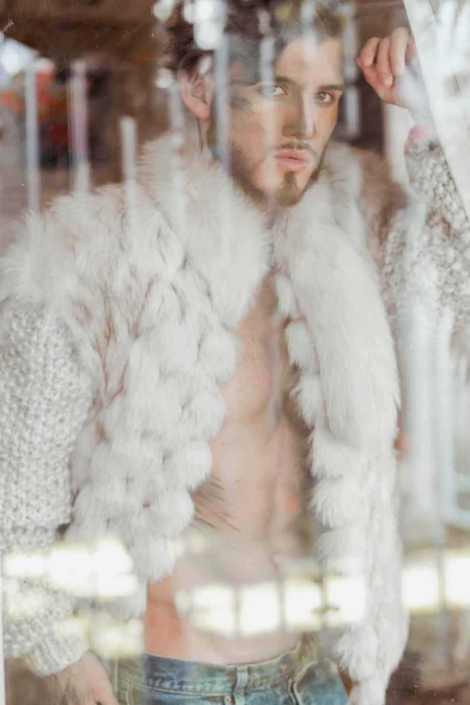 "Looking right through lens of Luis Linares featuring Luis Garcia, titled work name is ""Breathe"" and we can see a fascinating male body and beautiful face styled by E. Salim joining the crew MUA and Hairstylist Angel Corona."