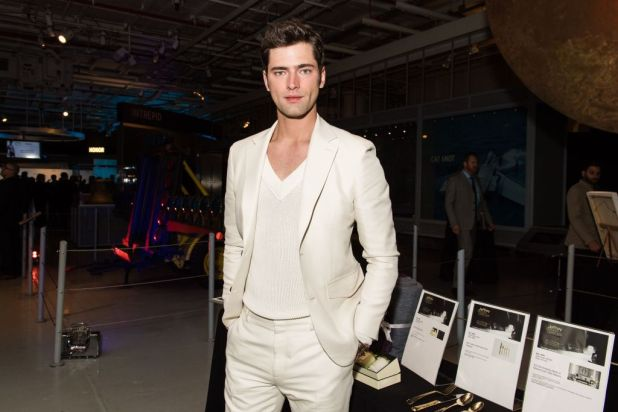 Mandatory Credit: Photo by Hunter Abrams/BFA/REX/Shutterstock (8563009fk) Sean O'Pry Jeffrey Fashion Cares Cocktail & Runway Show, Intrepid Sea, Air and Space Museum, New York, USA - 03 Apr 2017