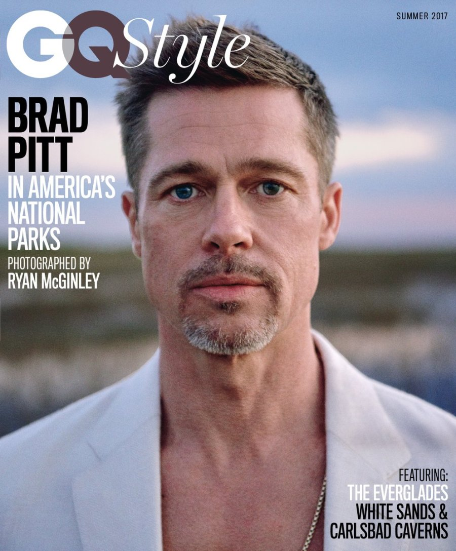 US GQ Style Summer 2017 : Brad Pitt by Ryan McGinley3