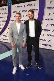 The Chainsmokers attends the 2017 MTV Video Music Awards at The Forum on August 27, 2017 in Inglewood, California.