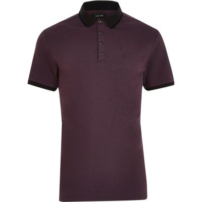 Big and Tall purple polo shirt
