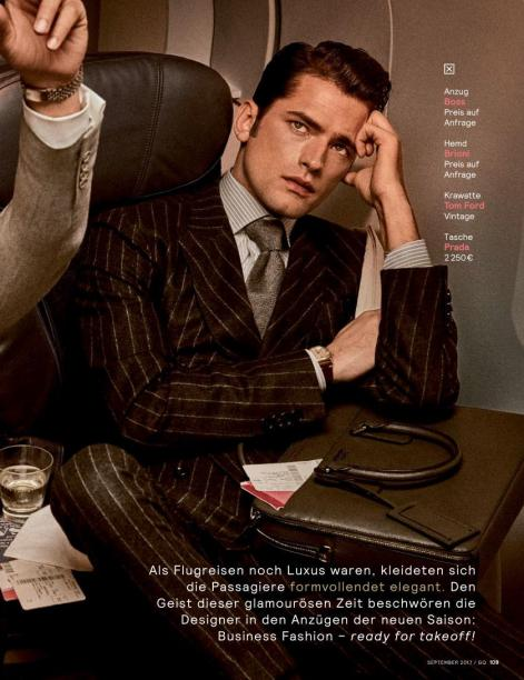 """GQ Germany September 2017: Sean O'Pry & Ollie Edwards by Giampaolo Sgura """"Business Class""""2"""