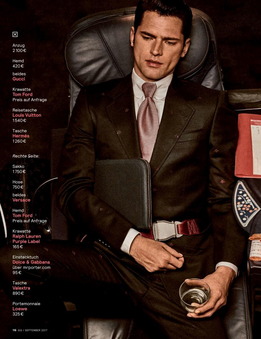 """GQ Germany September 2017: Sean O'Pry & Ollie Edwards by Giampaolo Sgura """"Business Class""""8"""