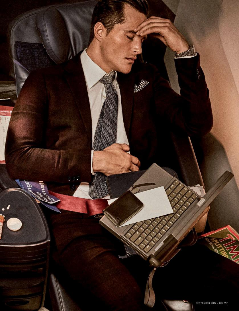 """GQ Germany September 2017: Sean O'Pry & Ollie Edwards by Giampaolo Sgura """"Business Class""""9"""