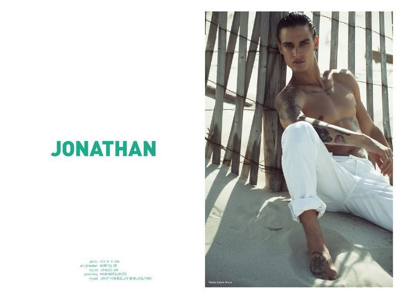 Jonathan Bellini on the cover Mandrawn Magazine  September 20172
