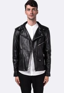 Black Lambskin Leather Moto-Biker Jacket $251.00USD
