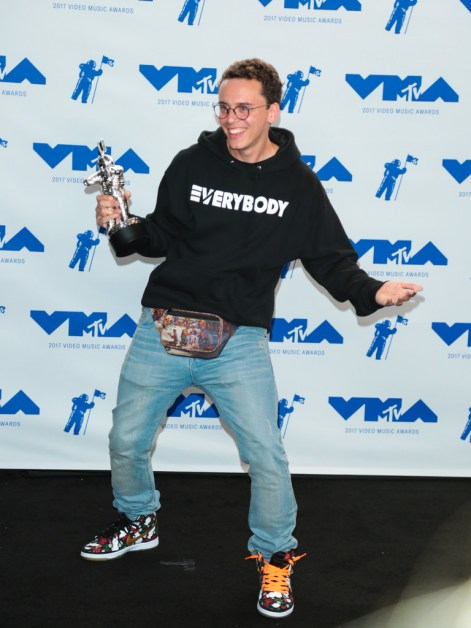 Logic attends the 2017 MTV Video Music Awards at The Forum on August 27, 2017 in Inglewood, California.
