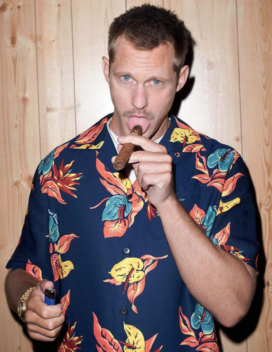 Alexander Skarsgård by Terry Richardson for GQ Style Germany AW1714