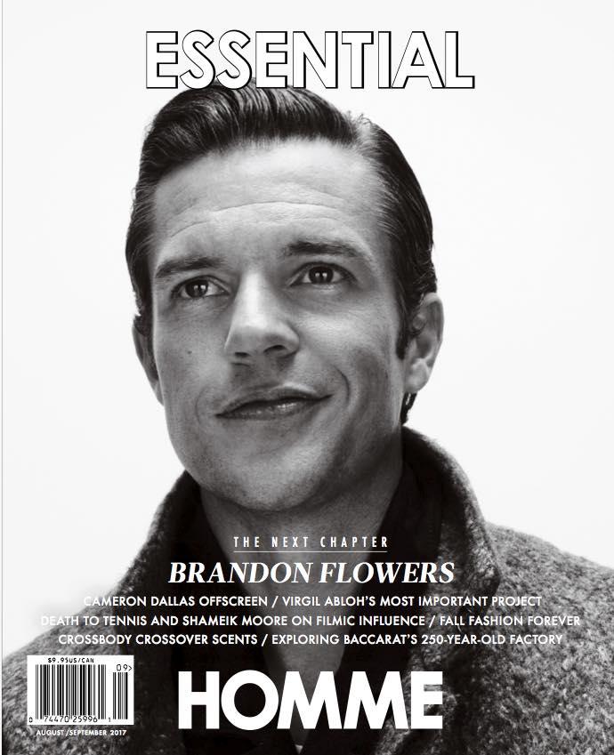 Brandon Flowers Covers Essential Homme Sep