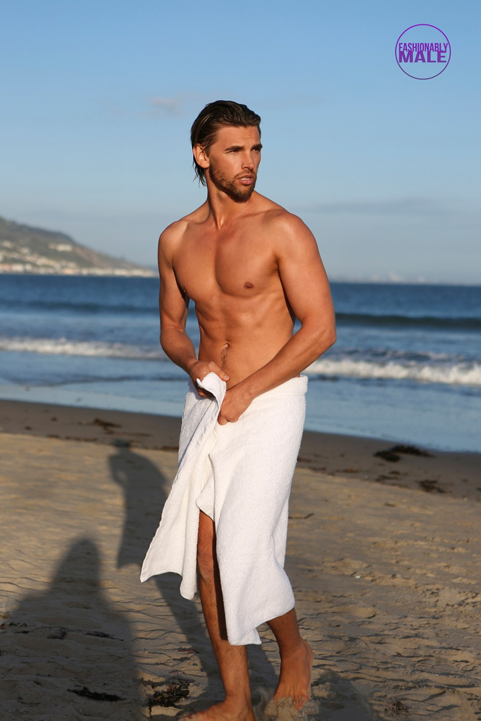 This is the first time we post a complete summer shots with Australian male model Jason John thanks to photographer Michael Dar. In the past, PnV Network shared an interview with the model, that also was posted on Vulkan Magazine. So this is the first we posts fresh snaps from him.