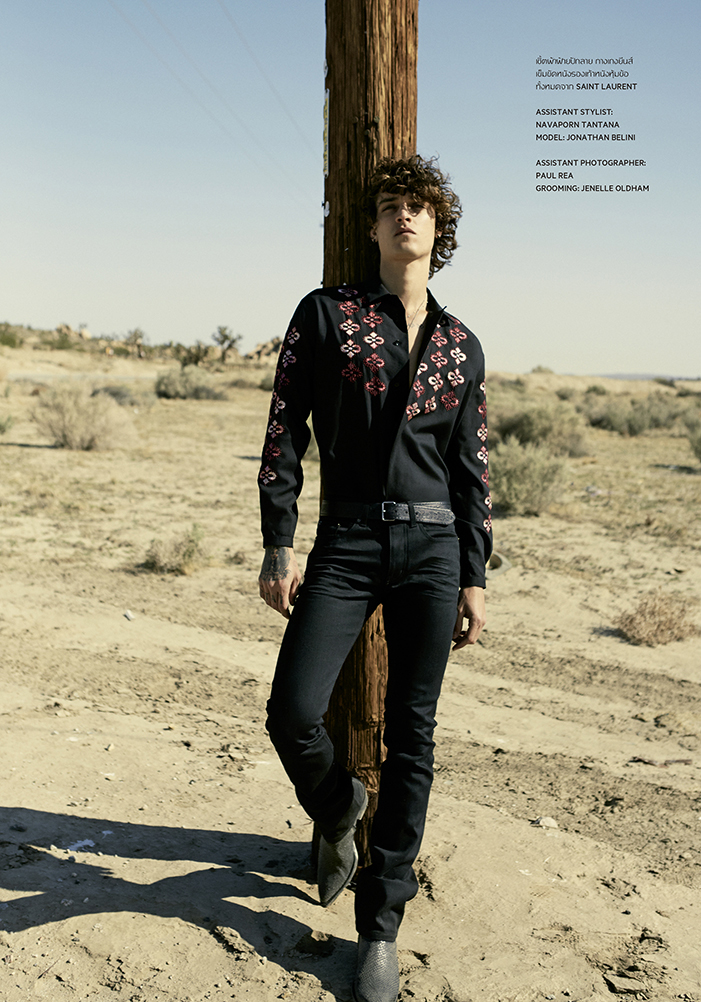 Way Out West with Jonathan Bellini for L'Officiel Hommes Thailand