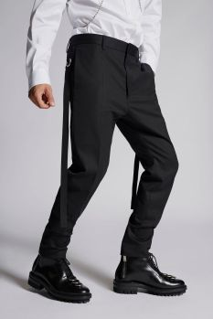 Chic Stretch Wool Cigarette Pants