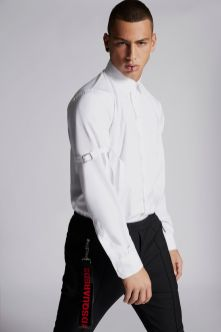 Cotton Poplin Military Shirt
