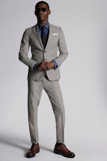 Check Wool Manchester Suit