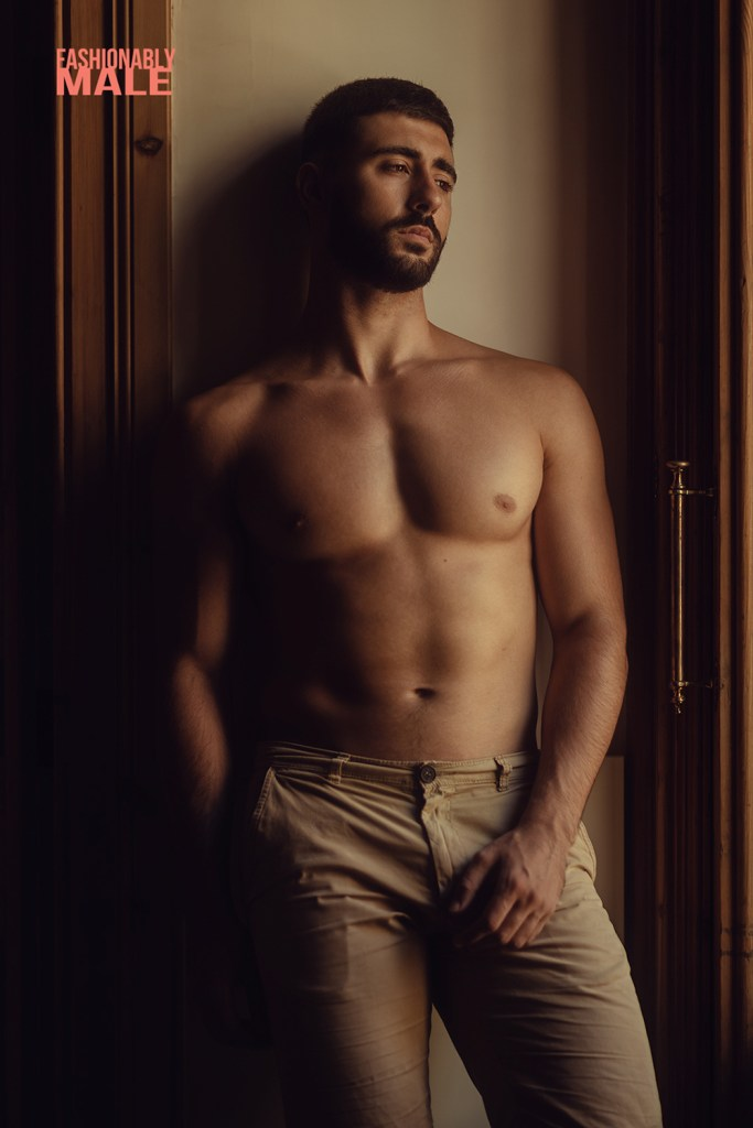 Spanish shirtless model