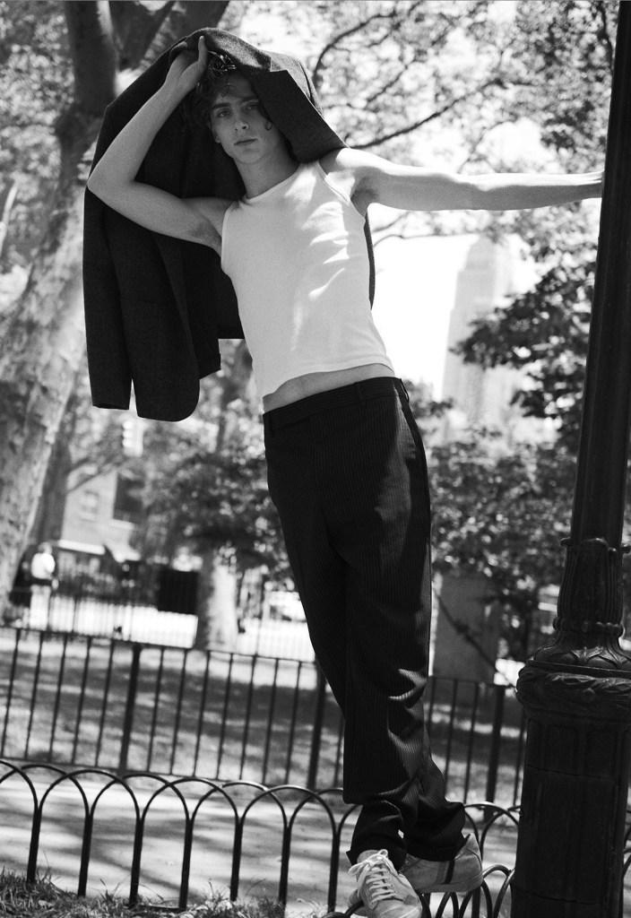 Timothée Chalamet by Karim Sadli for L'Uomo Vogue