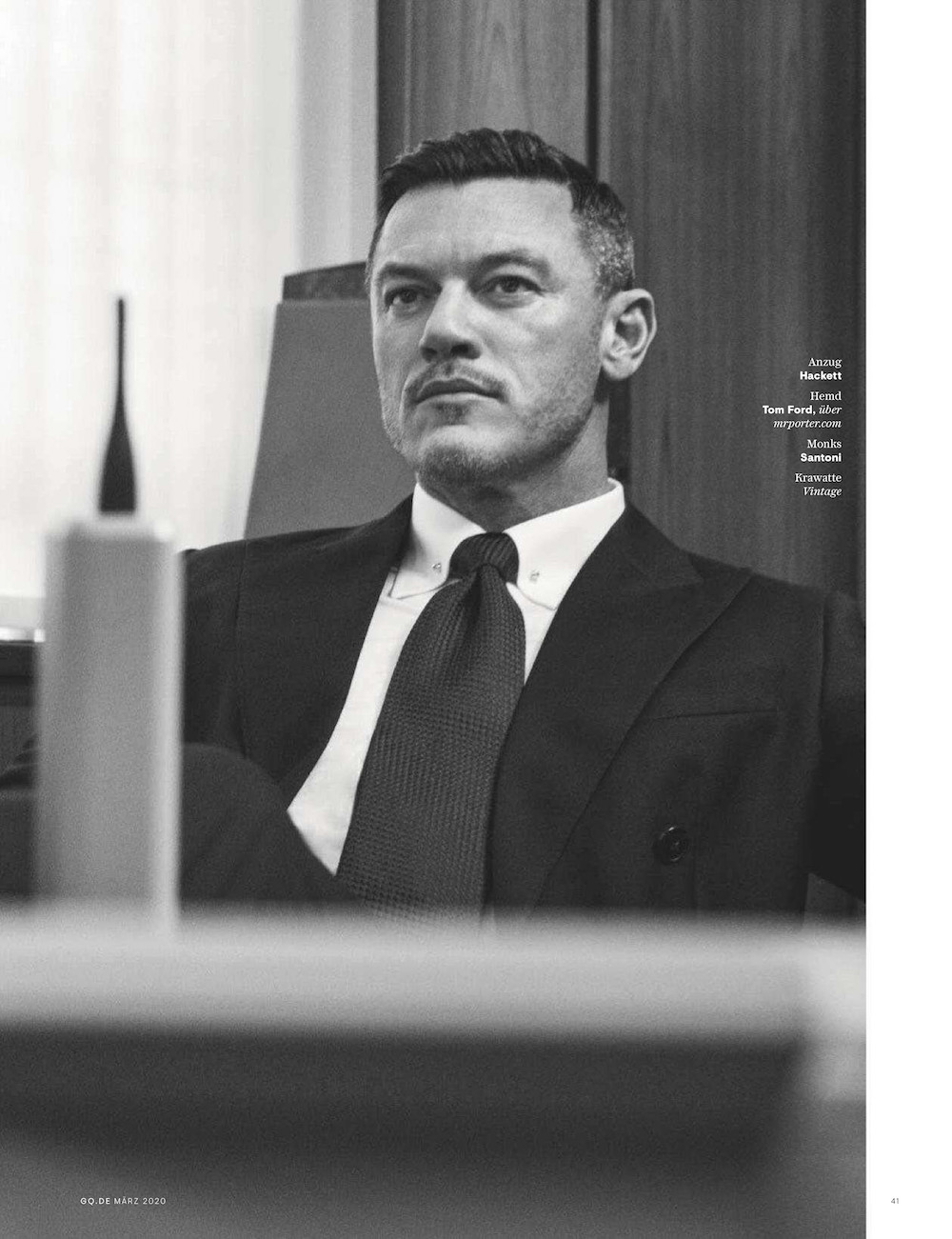 Luke Evans by Marcus Ohlsson for GQ Germany March 2020 Editorial