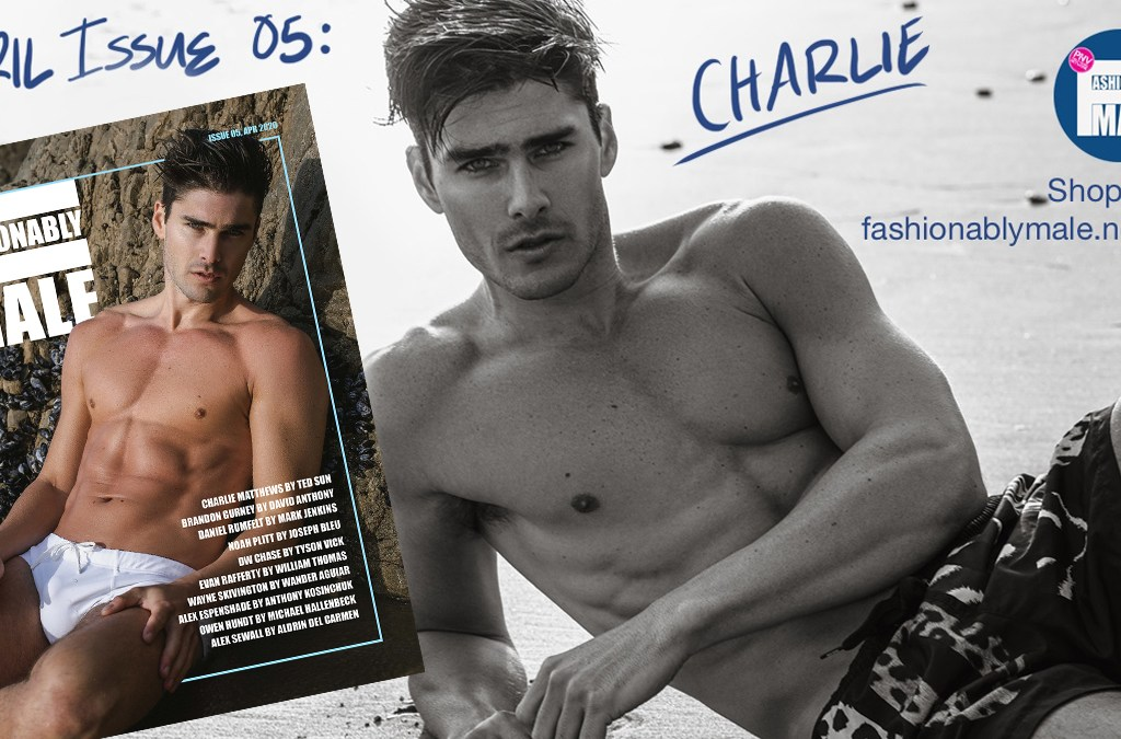 Charlie Matthews for PnVFashionablymale Issue 05 April 2020 cover