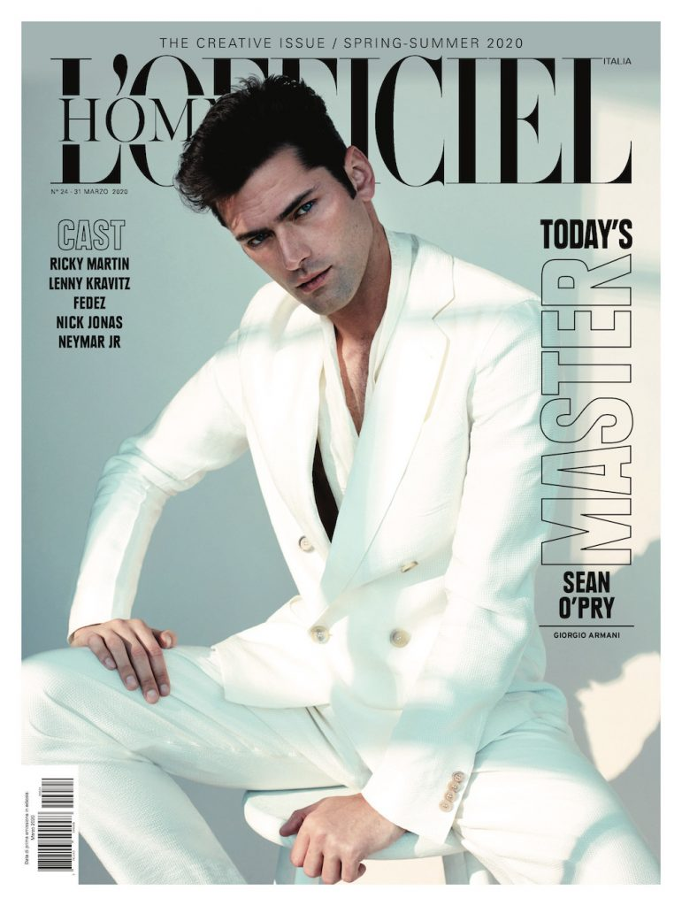 Sean O'Pry by Alexei Hay for L'Officiel Hommes Italia March 2020 Editorial