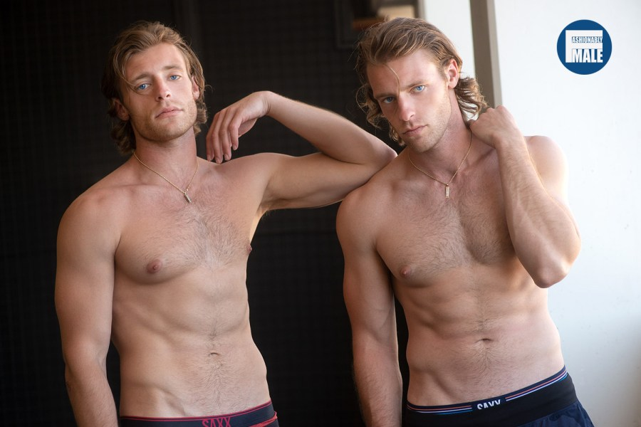 Twins Austin & Alec Proeh Pictures by Walter Tabayoyong for Fashionably Male