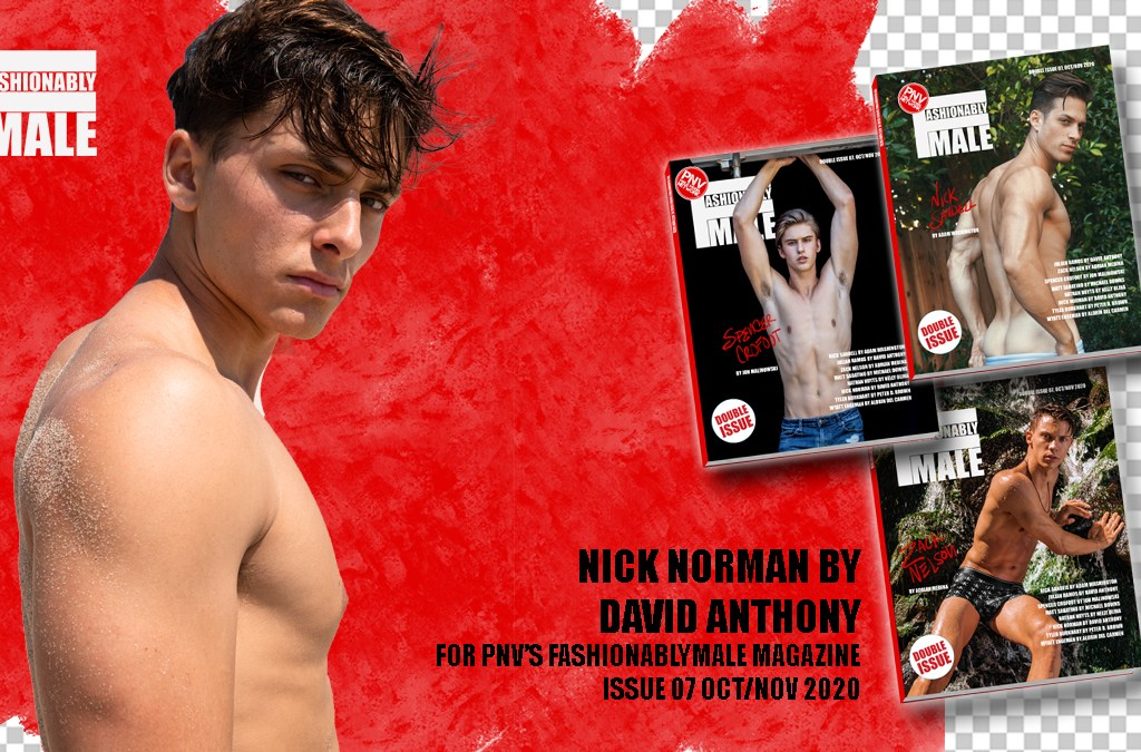 Nick Norman for PnVFashionablymale Magazine Issue 07 cover