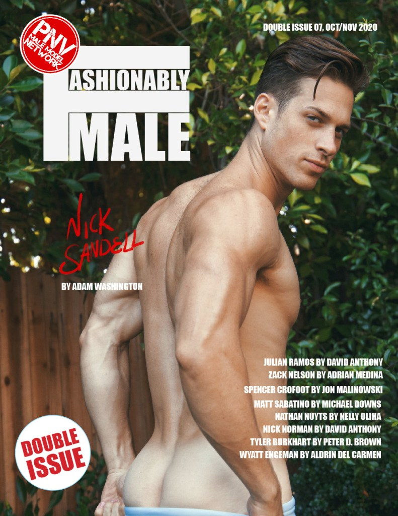 Nick Sandell by Adam Washington for PnVFashionablymale Magazine Issue 07 cover