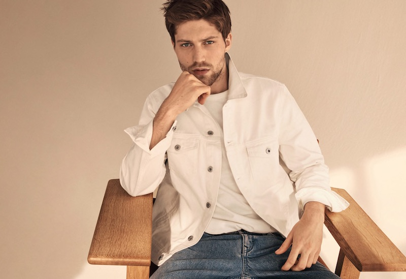 MANGO Launches Spring 2021 Denim Collection Relaxed fit denim shirt