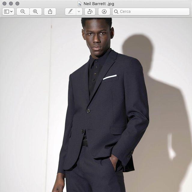 Neil Barrett Travel Fine Bi-Stretch Gabardine Fitted Slim Suit.